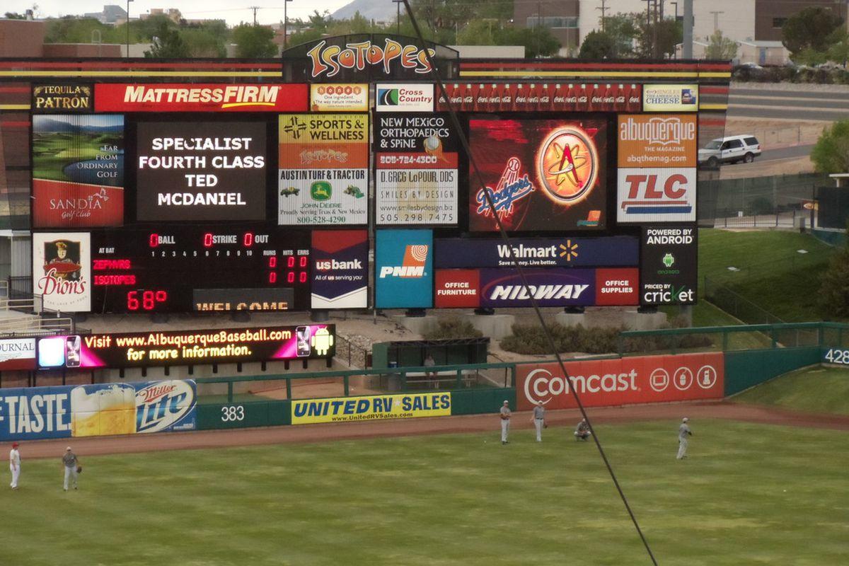 Albuquerque Isotopes Scoreboard