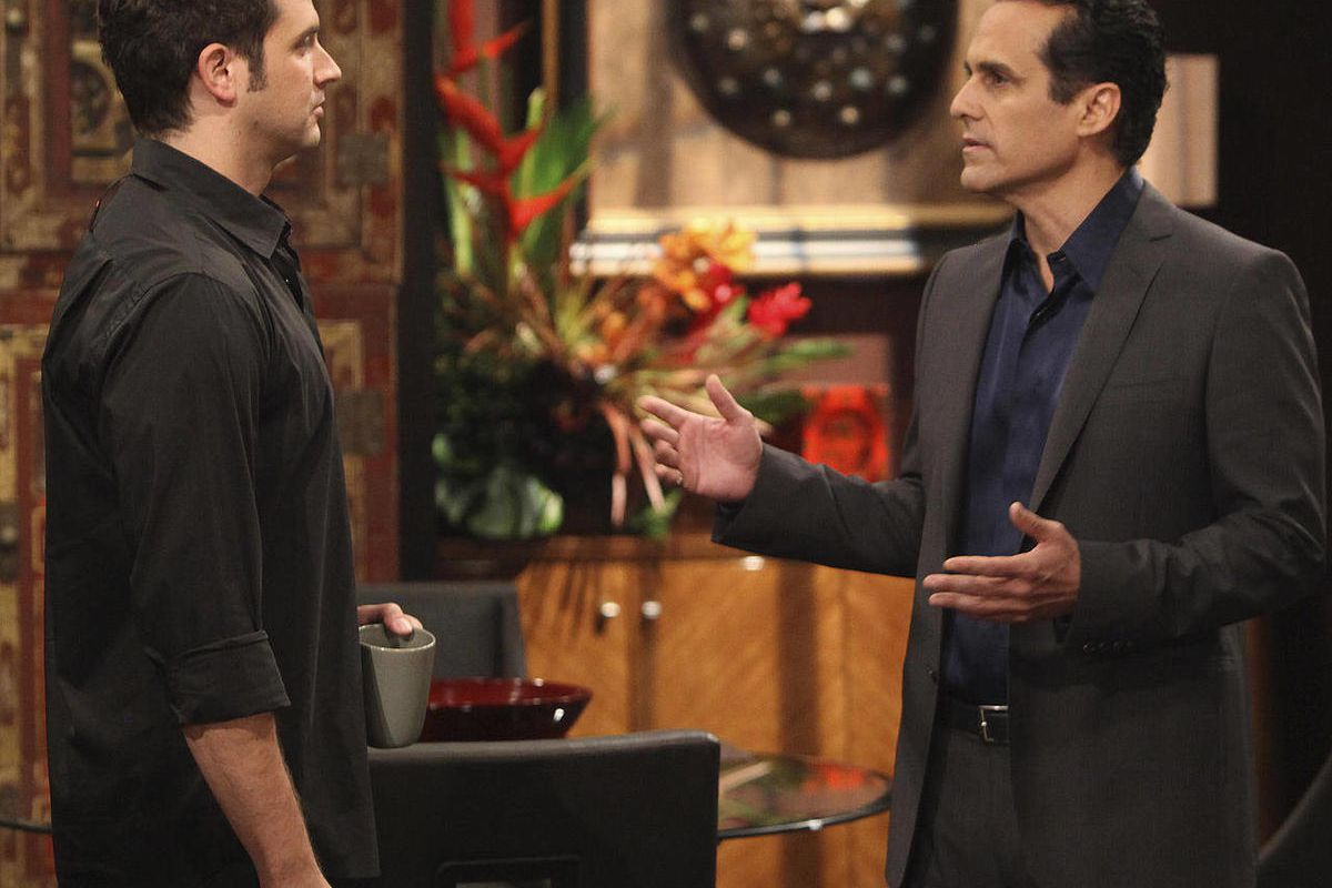 """In this TV publicity image released by ABC, Brandon Barash, left, and Maurice Benard are shown in a scene from the ABC daytime series, """"General Hospital.""""  It looks like ABC is not ready to completely give up on the soap opera genre. The network has renew"""