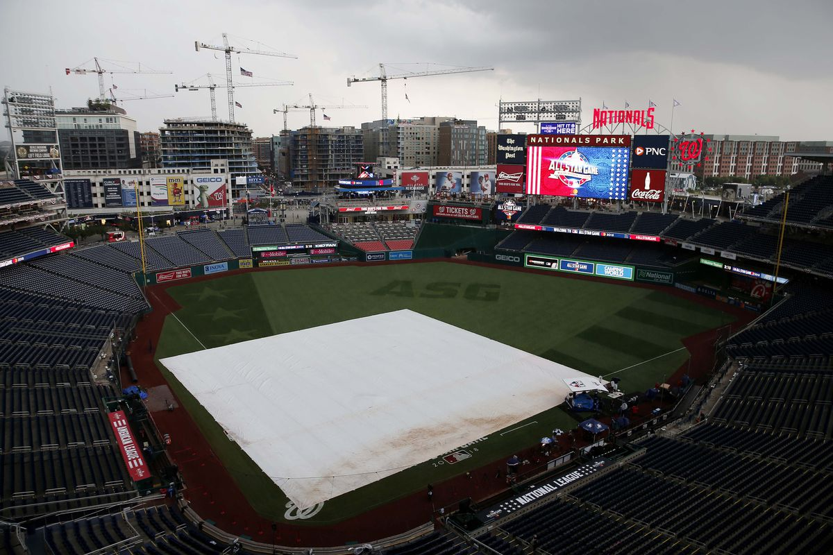 A general view of Nationals Ballpark prior to the 2018 MLB All Star Game.