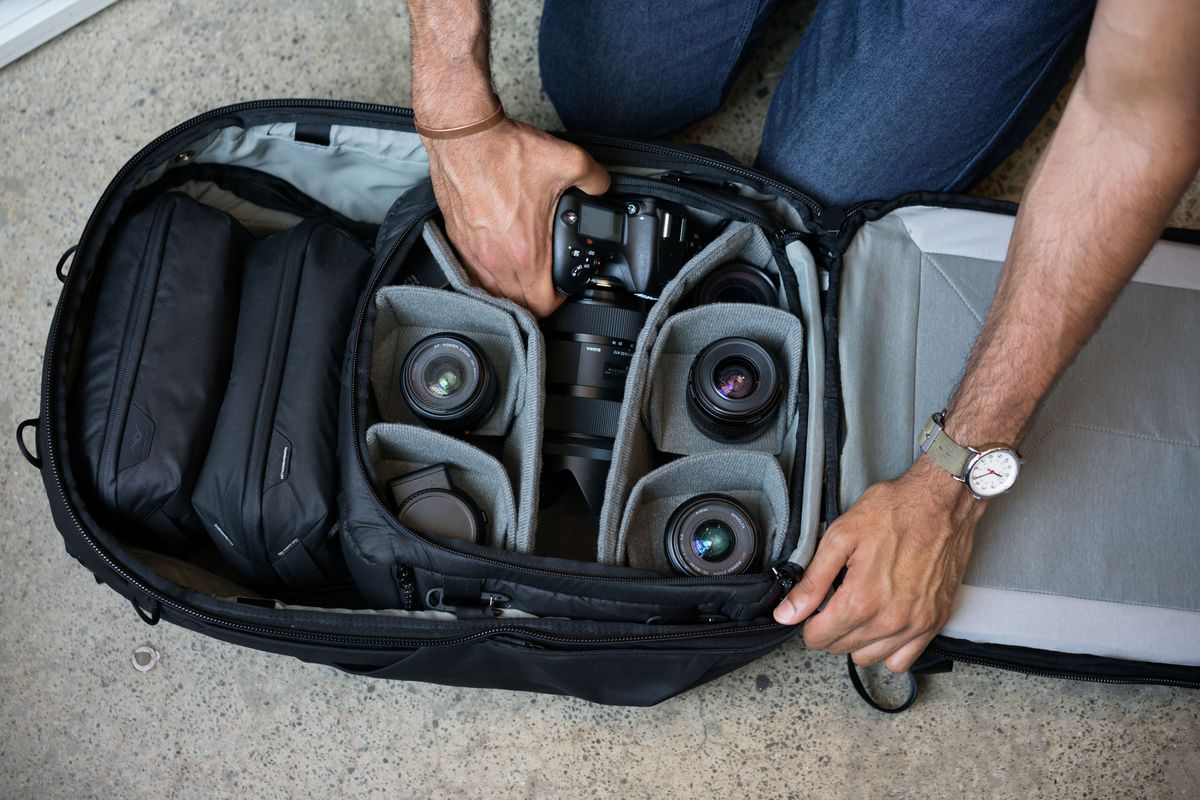 ... organization out of the Travel Backpack will require additional  purchases. These camera gear dividers aren t included with the actual bag. Peak  Design 4c297d76d3