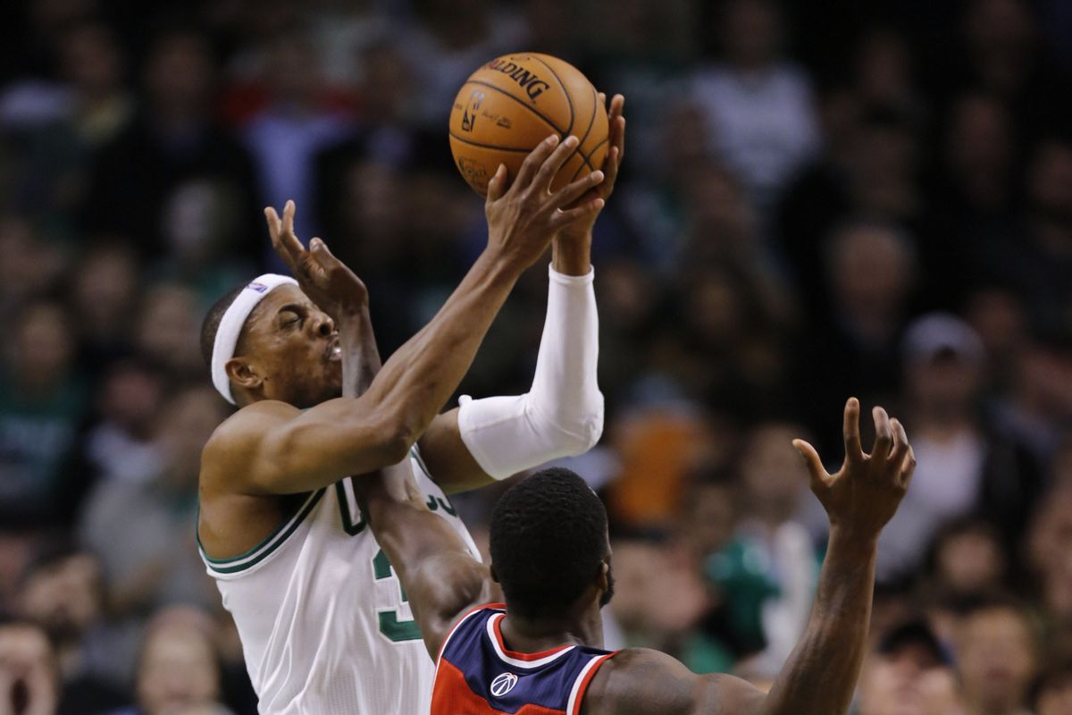 The going was rough for Boston and Paul Pierce (2-of-12 from the floor) on Wednesday evening.