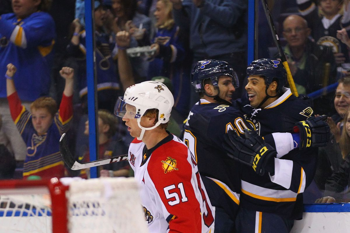 The Panthers might be worth more than the Blues, but at least the Blues win.