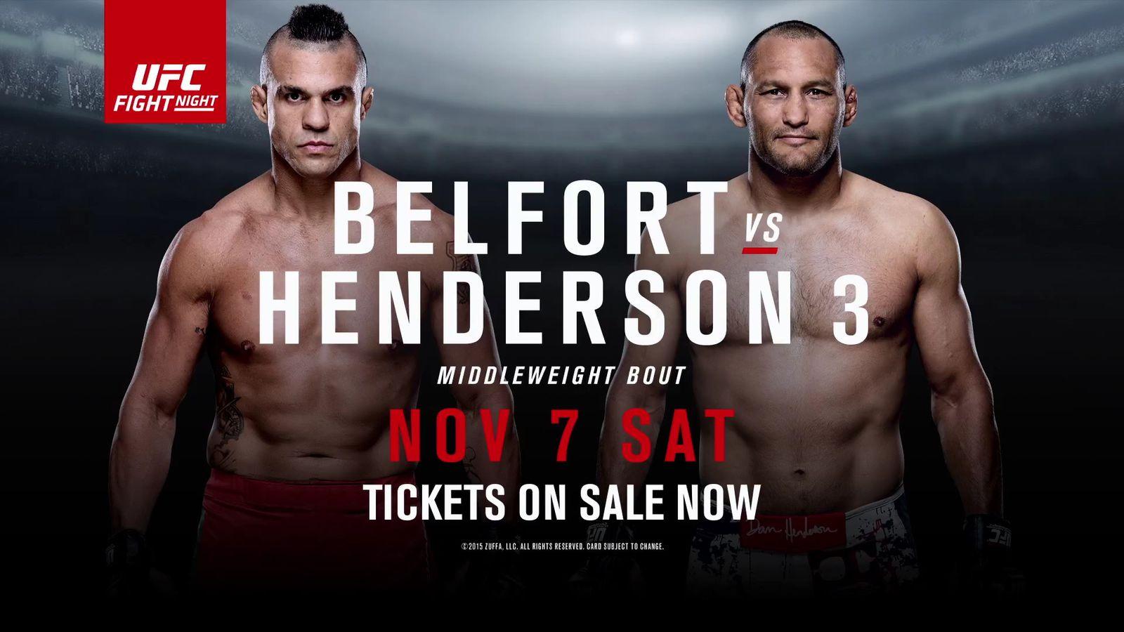 Belfort vs henderson betting odds betting odds roulette table rentals
