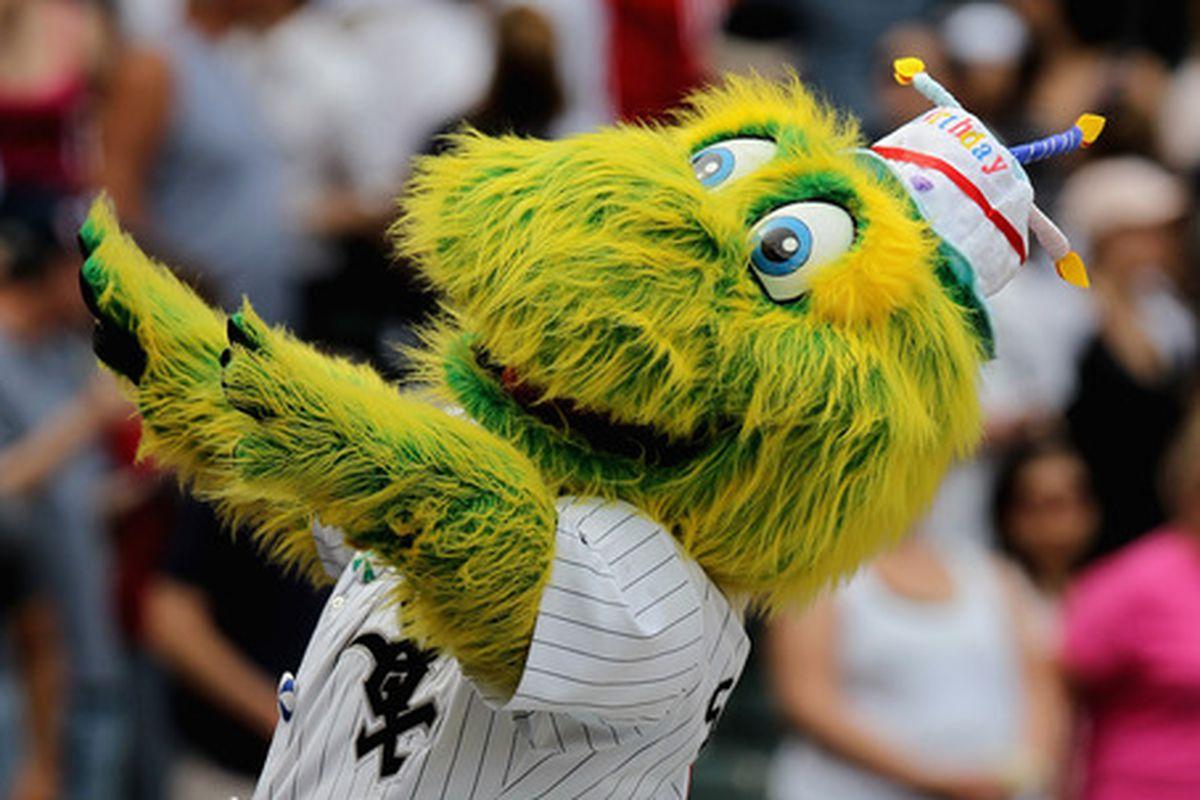 Creepy White Sox Mascot