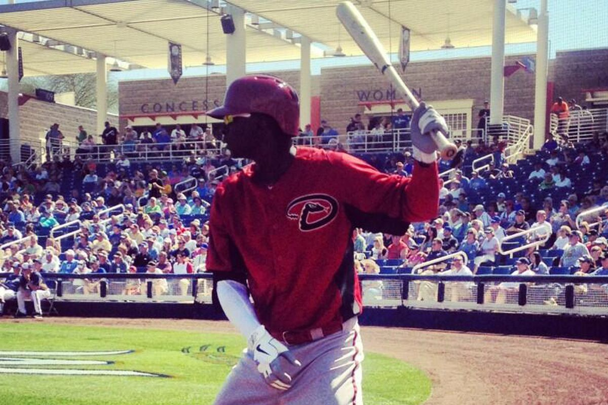 @DidiG18 during his #Dbacks spring debut yesterday: