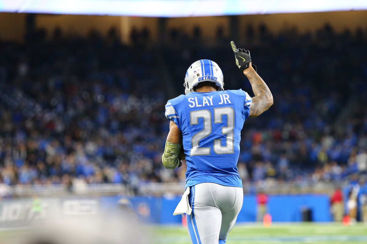 sale retailer 863b2 b0f55 Notes: Detroit Lions CB Darius Slay sets NFL-best mark vs ...