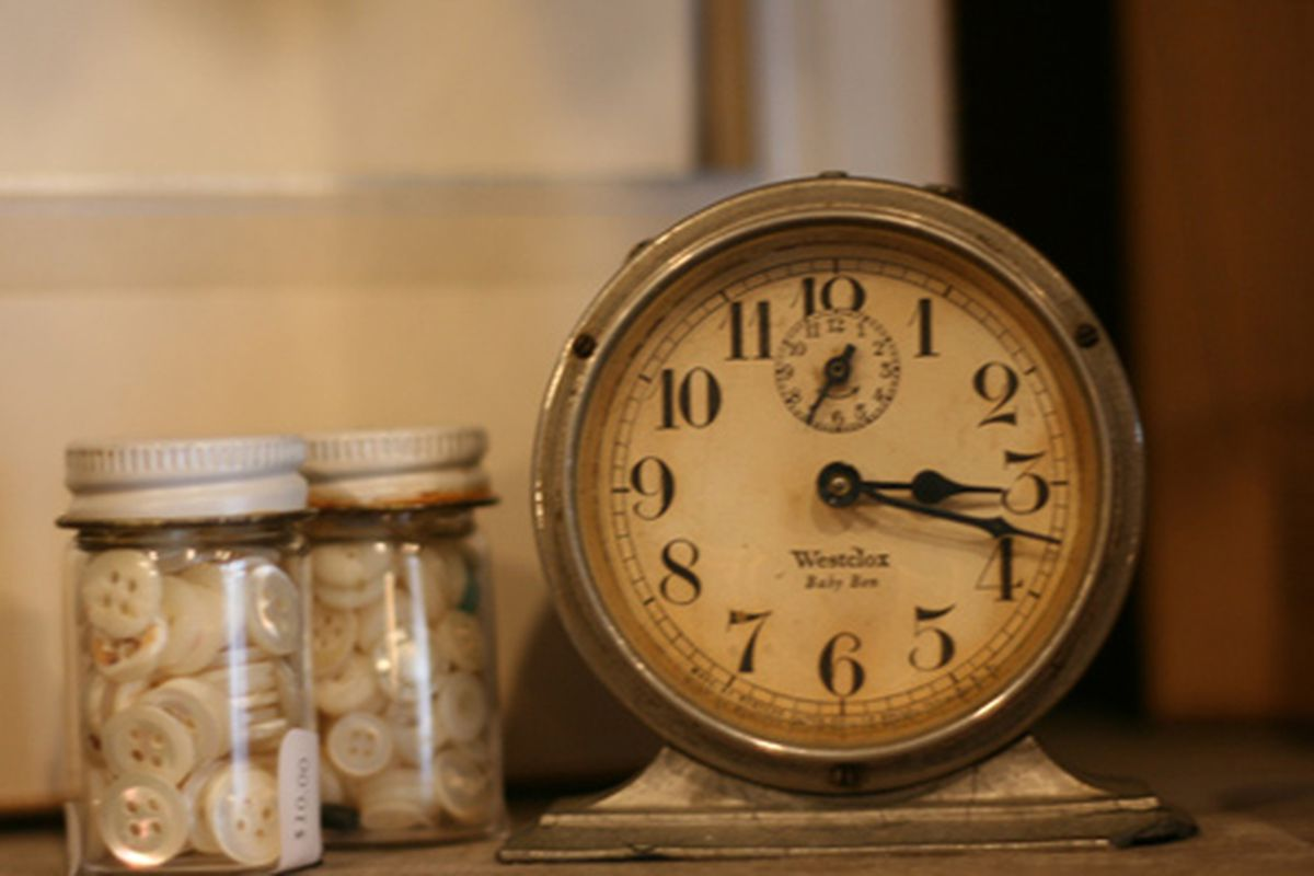 """Clock at Smith &amp; Butler via <a href=""""http://www.flickr.com/photos/31418704@N02/4386904381/in/pool-rackedny"""">Cherrypatter</a>/Racked Flickr Pool"""
