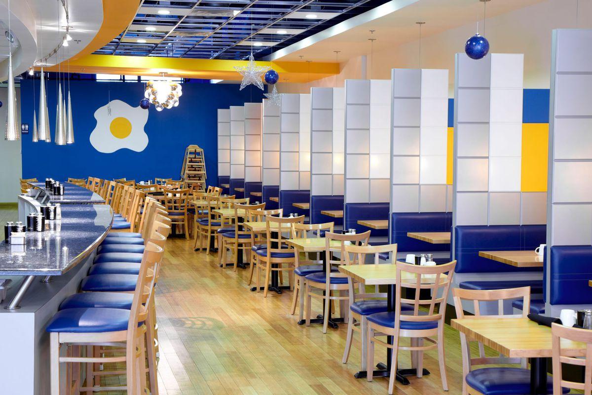 Inside a Yolk restaurant