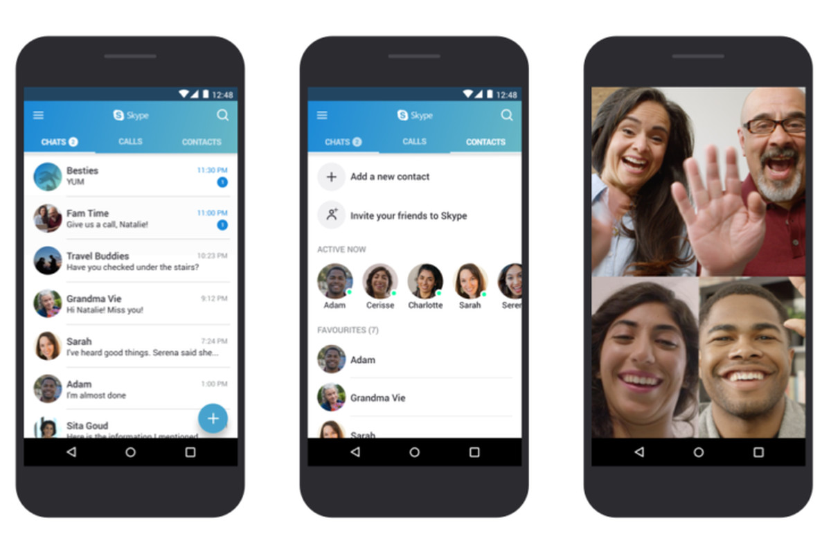 Skype optimizes their Android app for certain Android versions