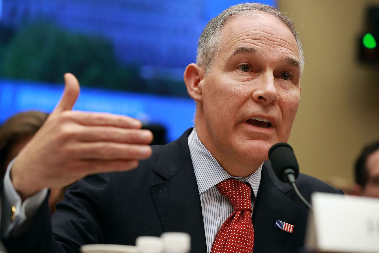emEnvironmental Protection Agency Administrator Scott Pruitt testifies before the House Energy and Commerce Committee's Environment Subcommittee./em