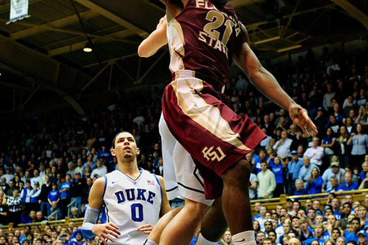 DURHAM, NC - JANUARY 21:  Michael Snaer #21 of the Florida State Seminoles will try to stay hot against the Demon Deacons of Wake Forest.  (Photo by Grant Halverson/Getty Images)