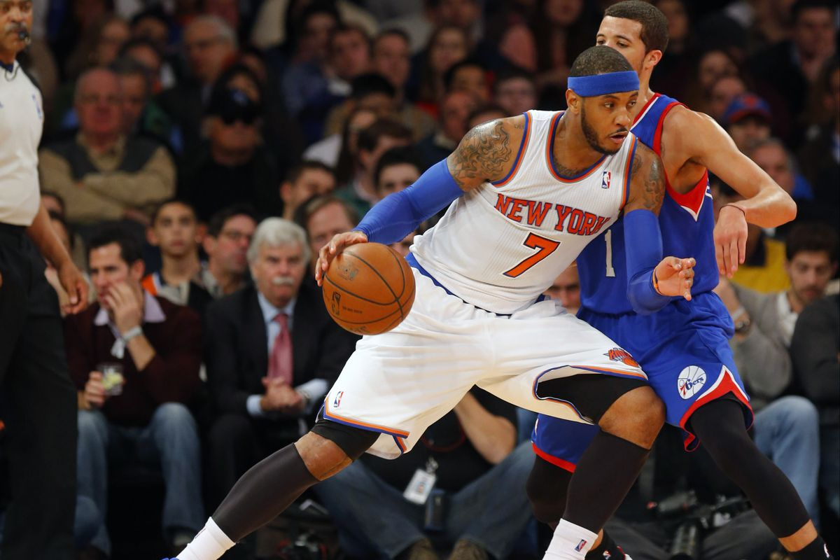 The Philadelphia 76ers announced on Monday that they will play a preseason game at the Carrier Dome on October 14th against the New York Knicks, bringing former Syracuse stars Michael Carter-Williams and Carmelo Anthony back to their college home.
