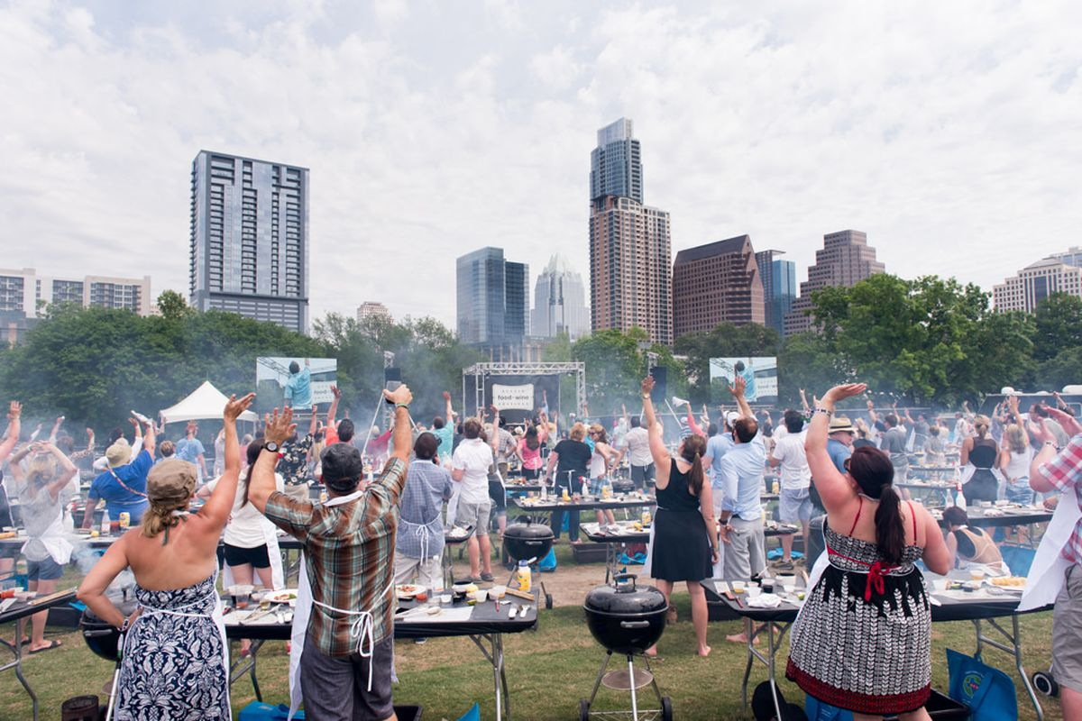 Tim Love's grilling demo at Austin Food & Wine Festival