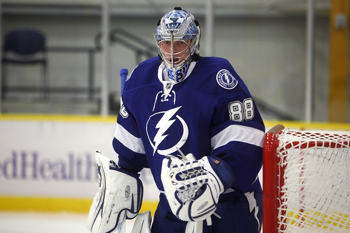Andrei Vasilevskiy from the recently complete prospect tournament in Tennessee.