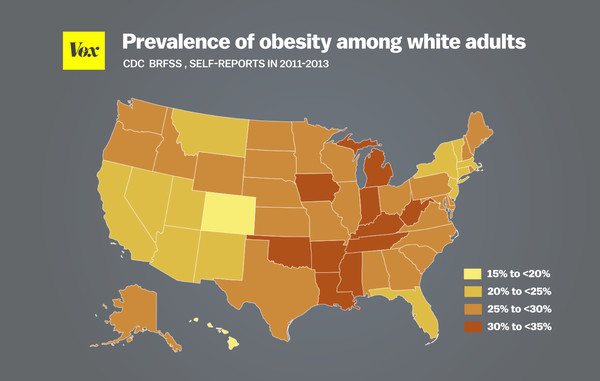 Obesity is much more prevalent among racial minorities than among compare that to this map which shows obesity rates among black adults for the same years gumiabroncs Choice Image