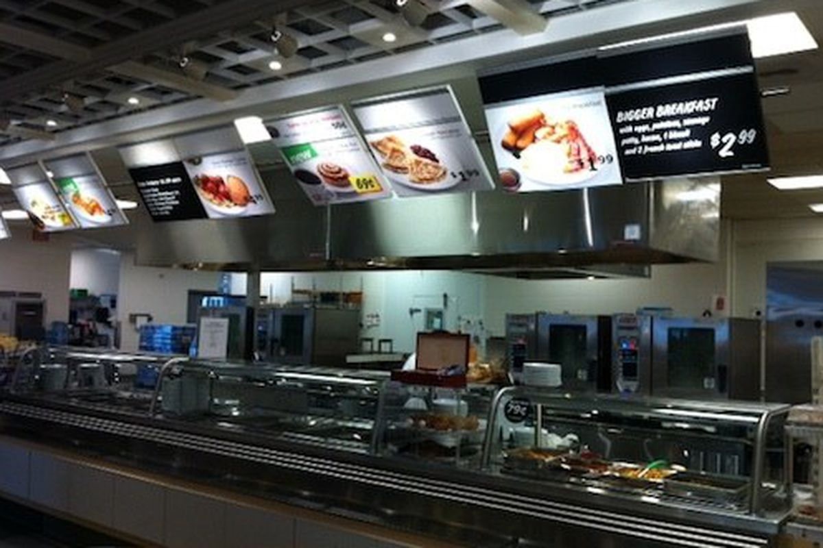 The IKEA cafeteria, because, really, why not?