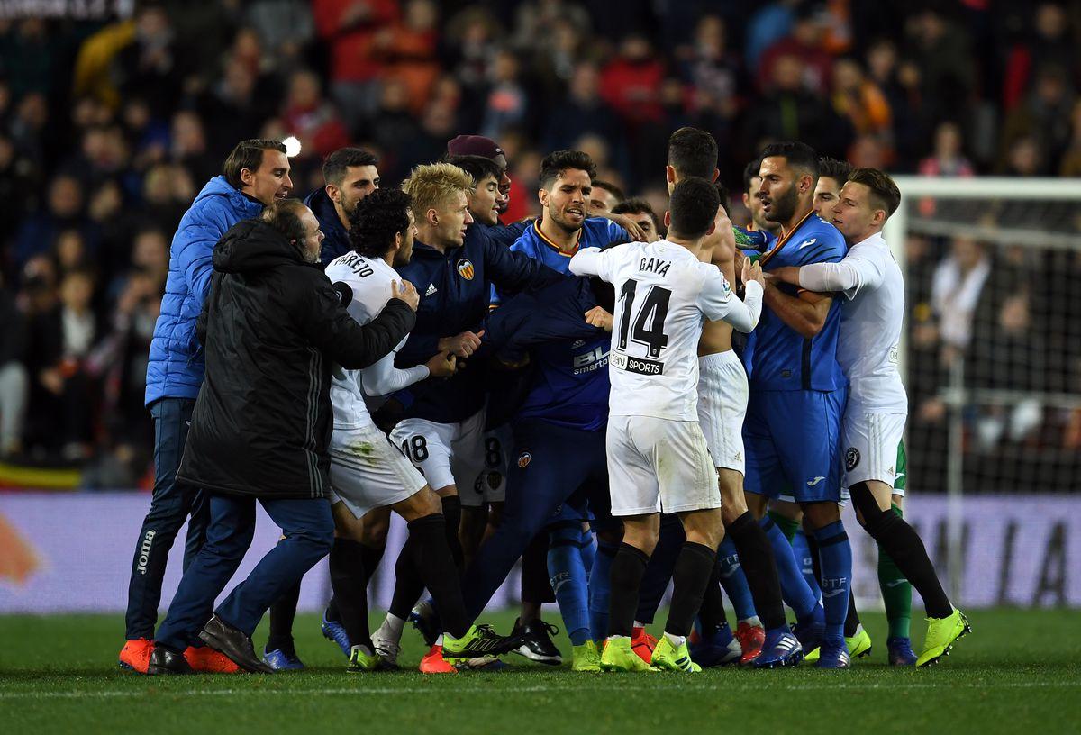 Valencia v Getafe - Copa del Rey Quarter Final