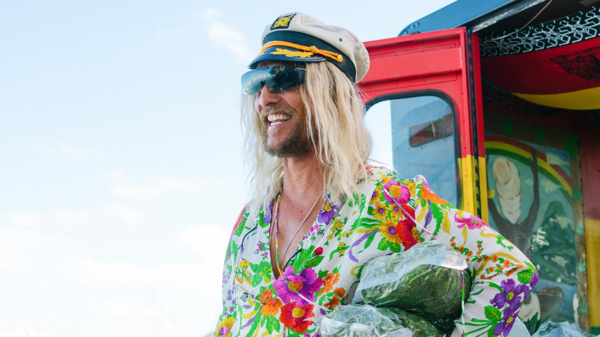 Matthew McConaughey relives his naked bongo police encounter in The Beach  Bum .