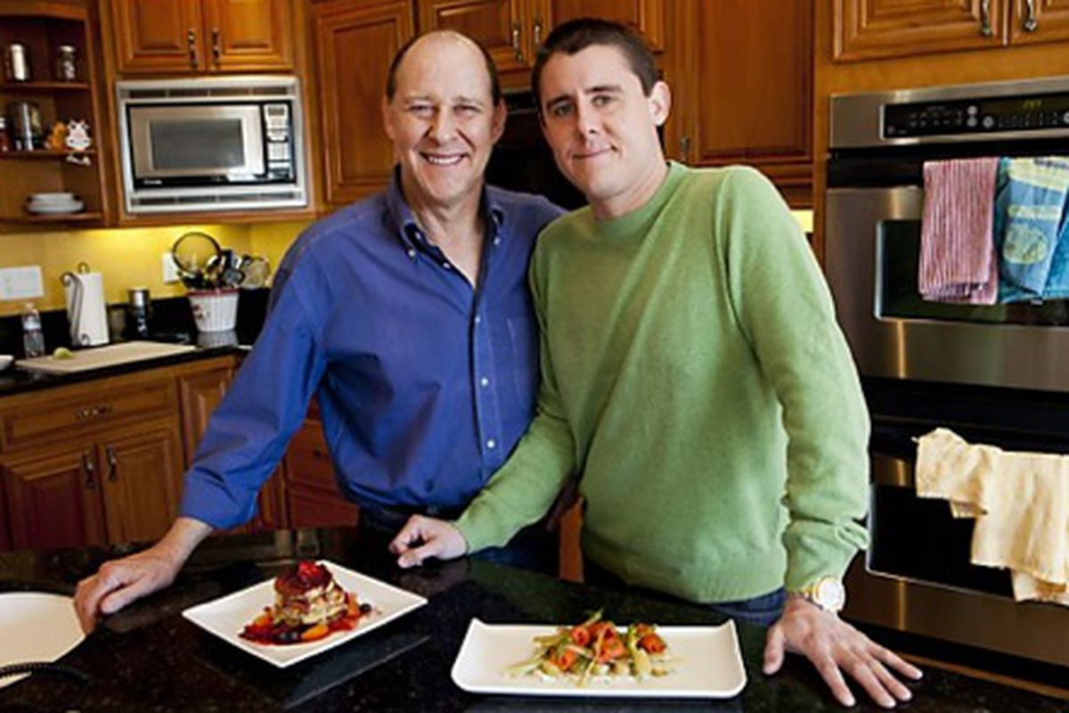 Father-son chefs Bradley Ogden, left, and Bryan Ogden will star in a TV show about cooking, but they need a network to call home.