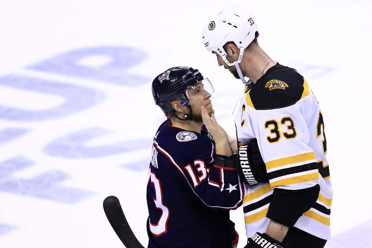 NHL: Stanley Cup Playoffs-Boston Bruins at Columbus Blue Jackets