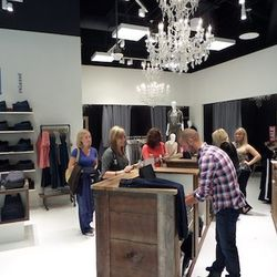 There are jeans for men, women, and children (and, hey! some pretty chandeliers.)