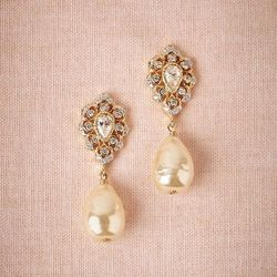 """<strong>CZ by Kenneth Jay Lane """"Felicita"""" Drop <a href=""""http://www.bhldn.com/shop-shoes-accessories-jewelry/felicita-earrings/productoptionids/342632d7-5f2a-429b-89ef-5b539083fa5b"""">Earrings</a> - $160</strong>. Yes, the ring is the start of the show but t"""
