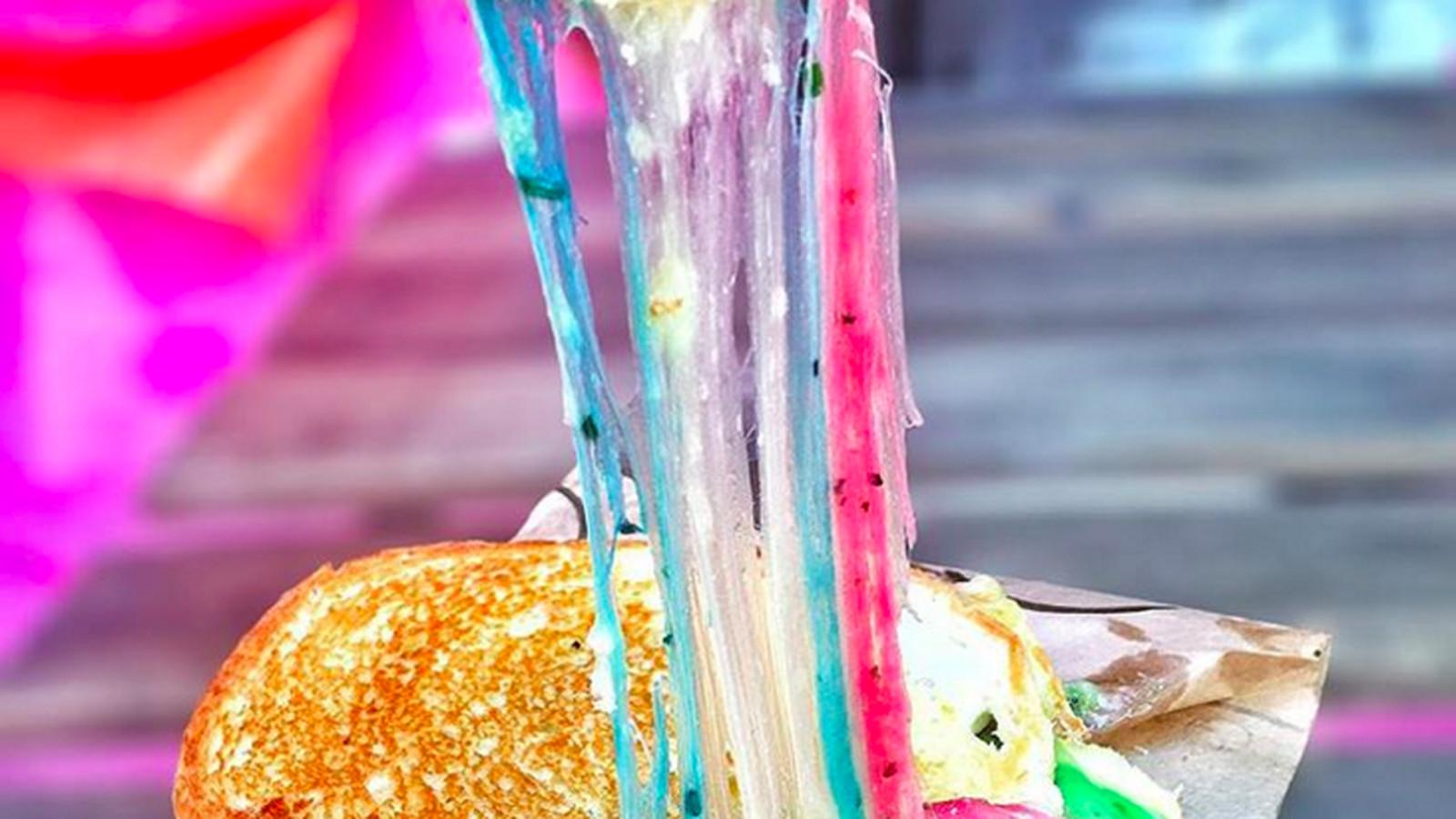 New York Food Fads  Rainbow Bagels