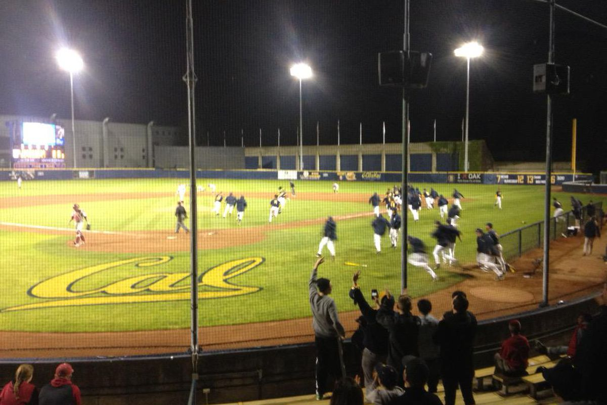 Evans Diamond after a walkoff win last year