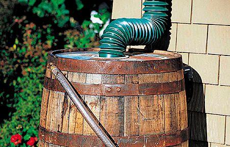 <p><strong>Real Oak Rain Barrel</strong> (45 gallons), $149, gardeners.com</p>