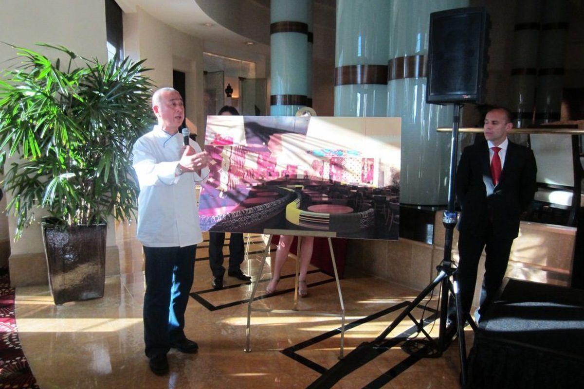Nobu Matsuhisa unveils the design of his new restaurant in the Nobu Tower at Caesars Palace.