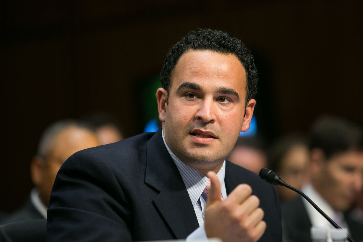 Kevin Sabet, co-founder of the anti-legalization group Smart Approaches to Marijuana, speaks in front of Congress.