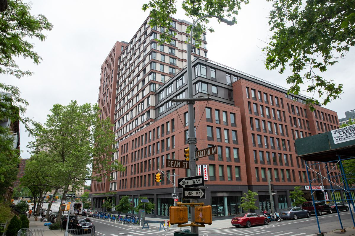 535 Carlton Ave. near the Barclays Center in Brooklyn has a mix of below-market units, June 2, 2020.