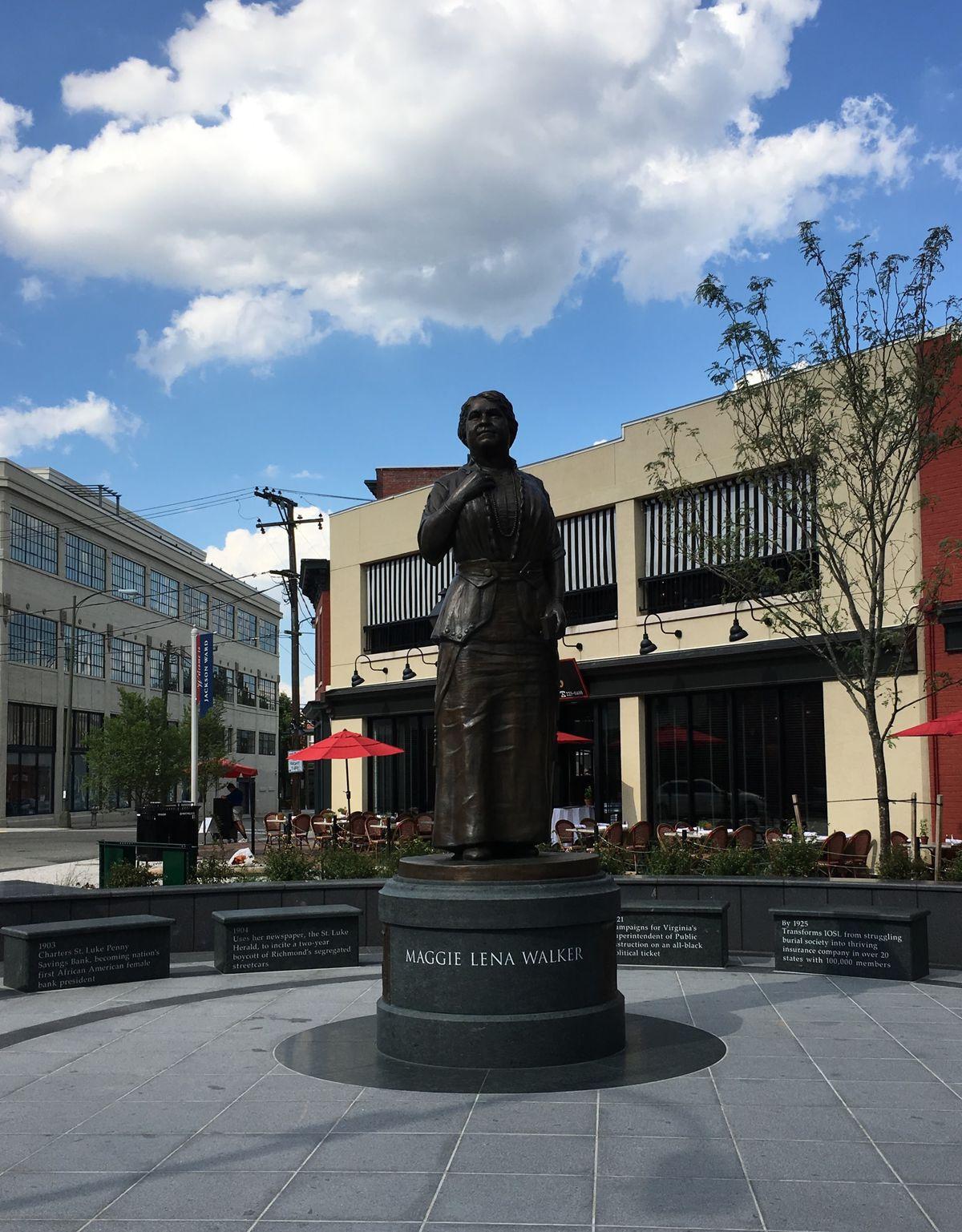 The Maggie Walker statue in Richmond