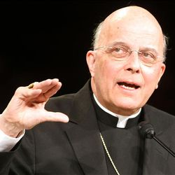 Cardinal Francis George, president of the U.S. Conference of Catholic Bishops, speaks at a BYU devotional on religious freedom Tuesday in Provo.