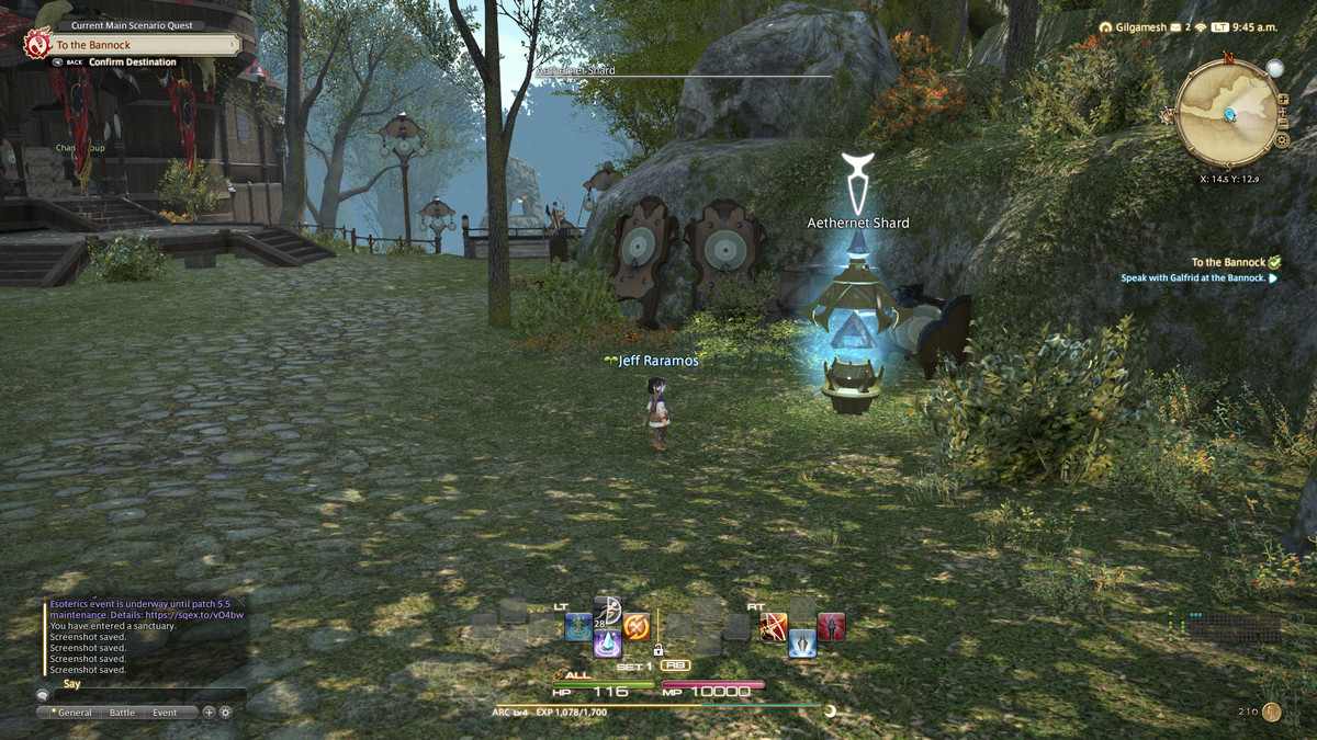 An Aethernet Shards in FFXIV