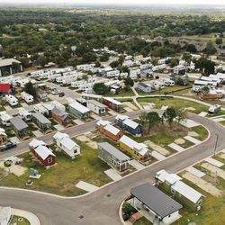 Community First! Village with tiny homes in Austin, Texas, is pictured on Tuesday, Oct. 20, 2020.