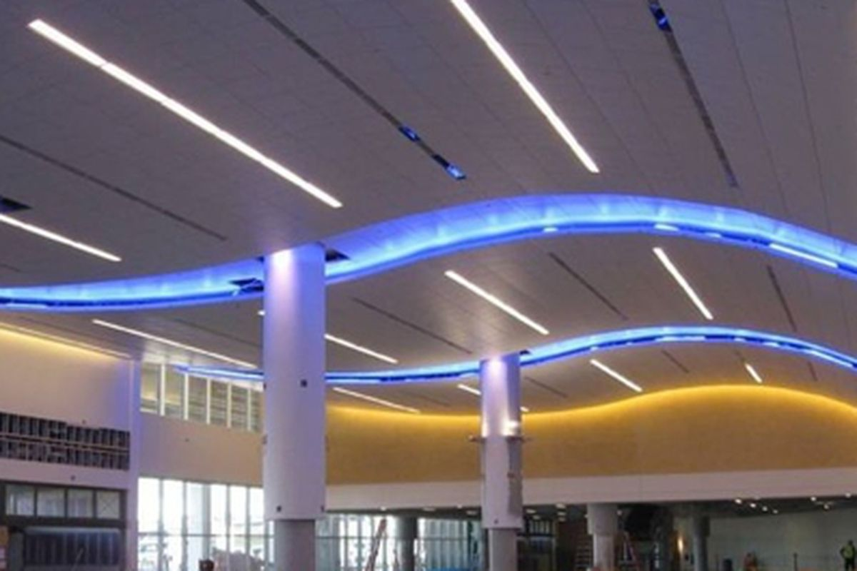 Interior of the new International Terminal to open spring 2012.