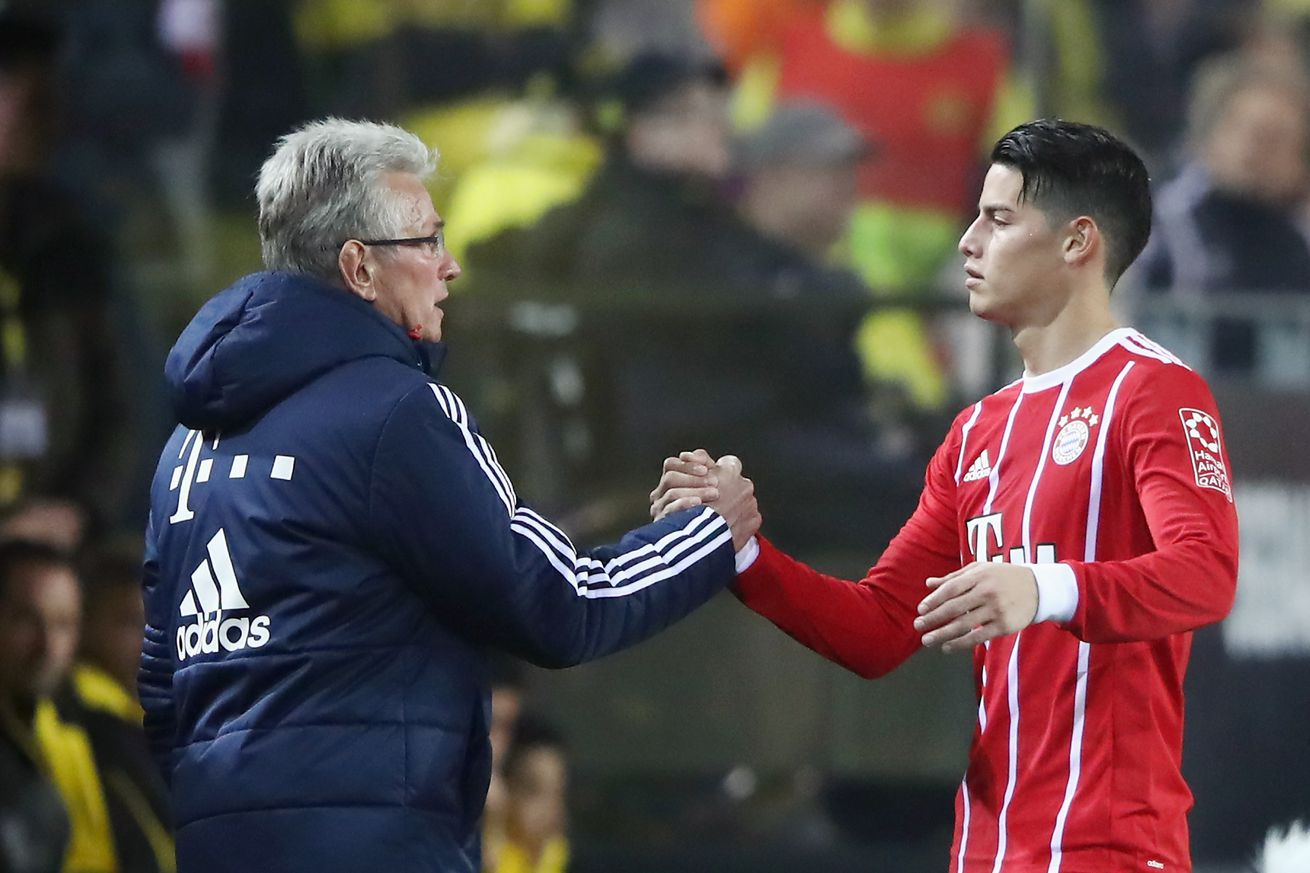 James Rodriguez?s current lack of minutes is not a problem ... because Jupp Heynckes did it too