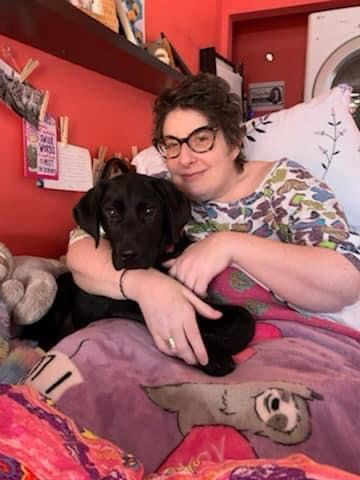 Stacy Oliver and Buford, a retriever she loved and that she knew would comfort her husband Jeff after she died.