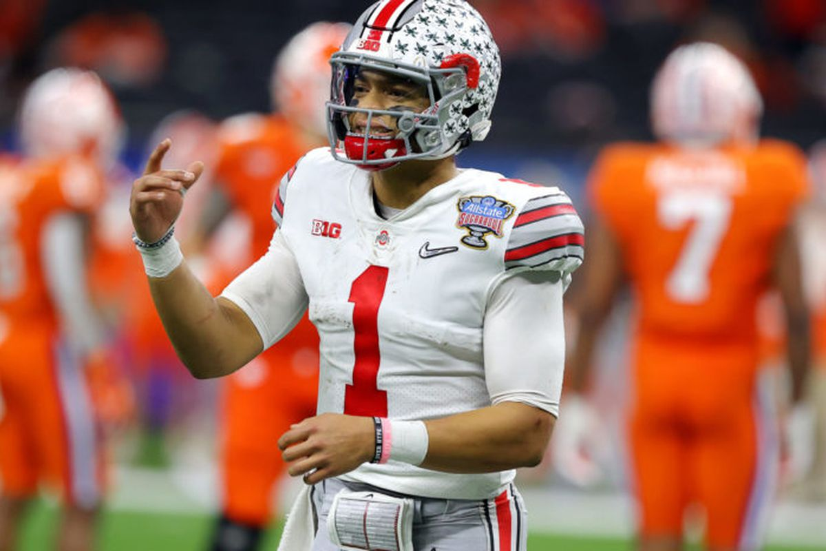 The Bears traded up from No. 20 overall to No. 11 to take Ohio State quarterback Justin Fields in the NFL draft Thursday night.