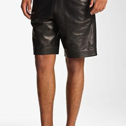 """As usual, Wang manages to bring the sleekest, most edgy look we've found. On sale for $434.98, <a href=""""http://shop.nordstrom.com/S/t-by-alexander-wang-leather-shorts/3428215?origin=related-3428215-null-1-1-FTR-AHAM-Recently%20Viewed&BaseUrl=Clothing&Page"""