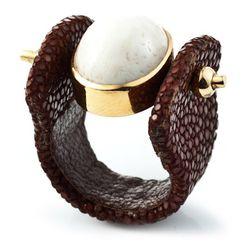 """Stingray Corsica ring, $150 via <a href=""""http://www.polyvore.com/"""">Polyvore</a>"""