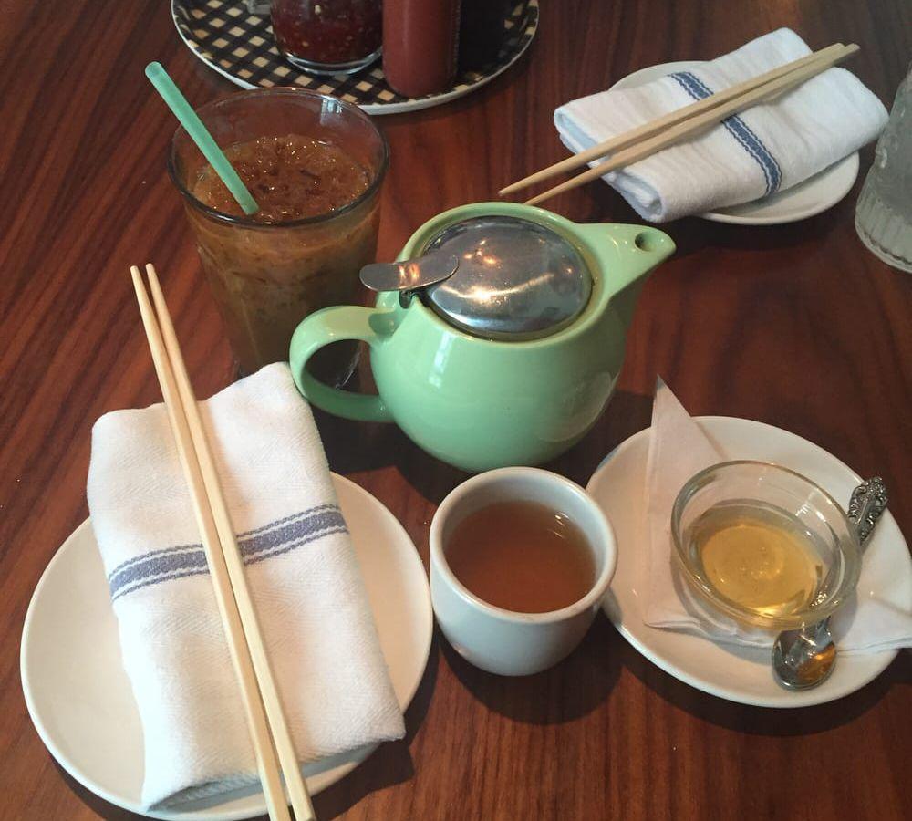 Tea service at Elizabeth Street Cafe