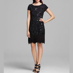 """<strong>Aidan Mattox</strong> Deco Beaded Fringe Hem Dress, <a href=""""http://www1.bloomingdales.com/shop/product/aidan-mattox-deco-beaded-fringe-hem-dress-short-sleeves?ID=848490&CategoryID=21846&LinkType=#fn=DRESS_OCCASION%3DParty%26spp%3D24%26ppp%3D96%26"""