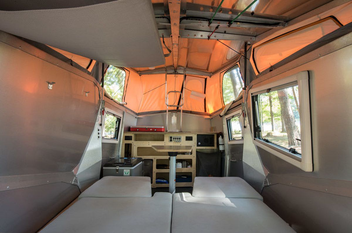 There Are Other Lightweight Campers Out That We Love Like This Teardrop Trailer Built For Stargazing But Most Sleep Two People Max And Even Can