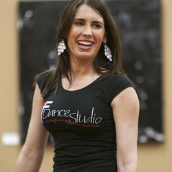 South Salt Lake Businesswoman of the Year Maria Ivanova Tuesday, March 12, 2013, works with her students at her dance studio, DF Dance.