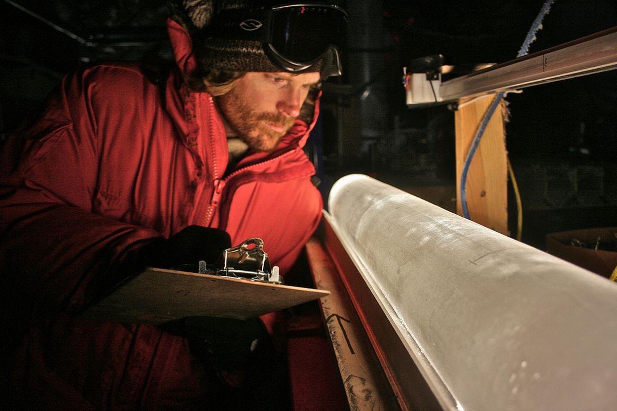 Ice core sample