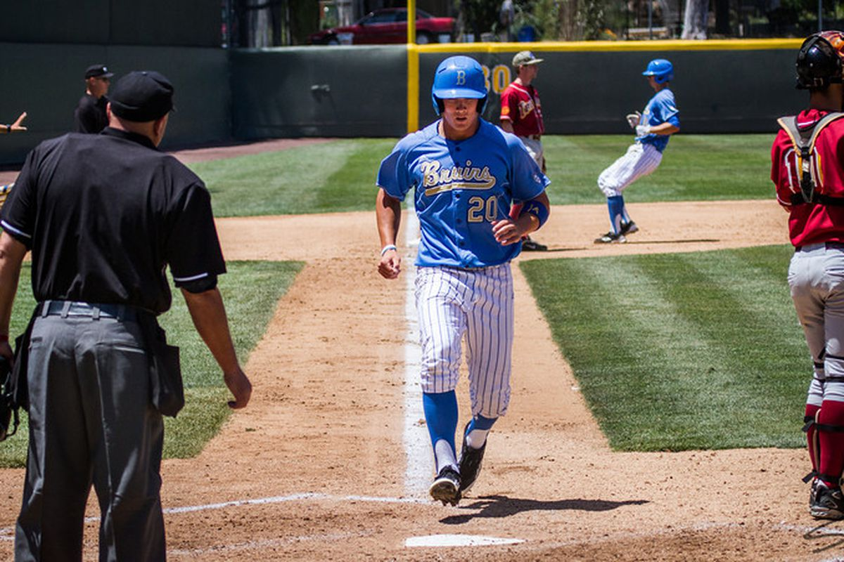 """Jeff Gelalich hit two home runs and earned Regional Most Outstanding Player honors (Photo Credit:<a href=""""http://www.scottwuphotography.com/"""" target=""""new""""> Scott Wu</a>)"""