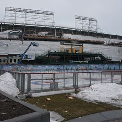 Ice rink still waiting to be dismantled, in Gallagher Way