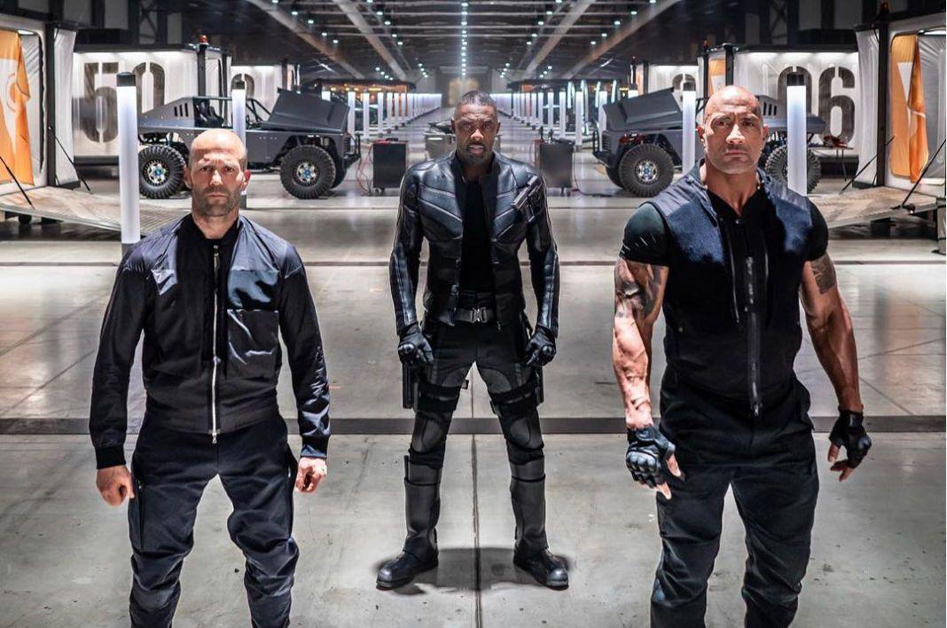 Jason Statham, Idris Elba, and Dwayne Johnson